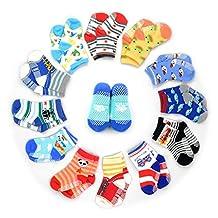 HOVEOX Kids Baby Toddler Socks Non-Skid Crew Walkers Unisex