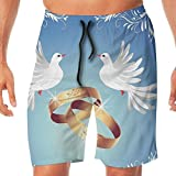 Haixia Mens Funny Swimming Trunks Wedding Decorations Card Inspired Design with
