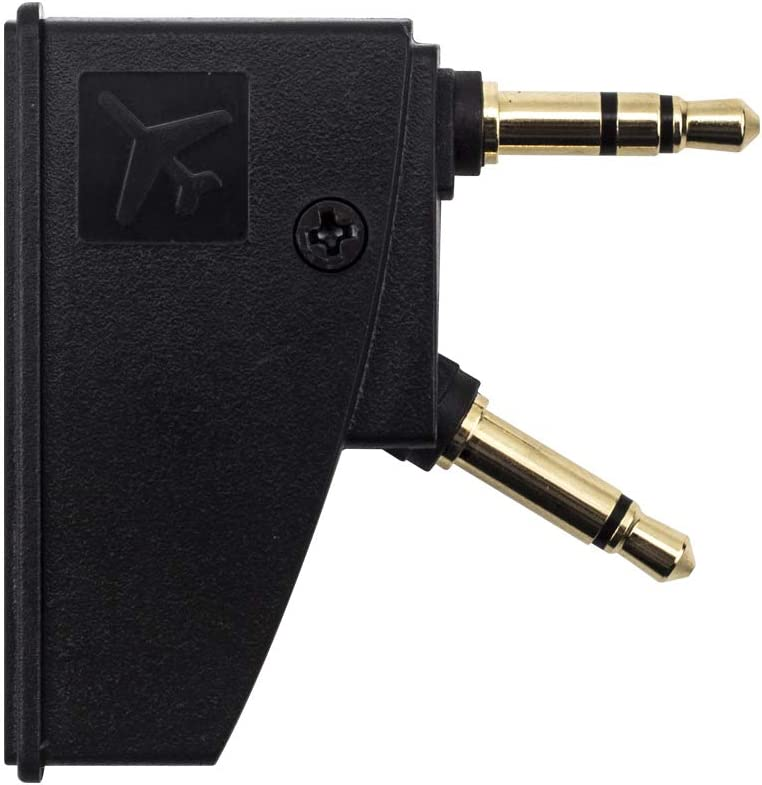 Aviation Plugs to Golden Plated 3.5mm Jack HotTopStar QC25 Airline Airplane Flight Headphone Adapter Compatible for Bose Quiet Comfort QC2//QC3//QC15//QC20//QC20I//QC25//QC35 and More Headphones
