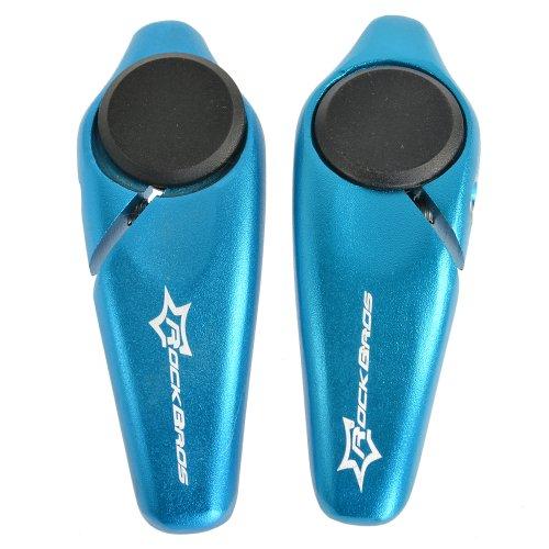 RockBros Fahrrad MTB Aluminum Lenkerhörnchen (Bar End) 5 Farben (blau)