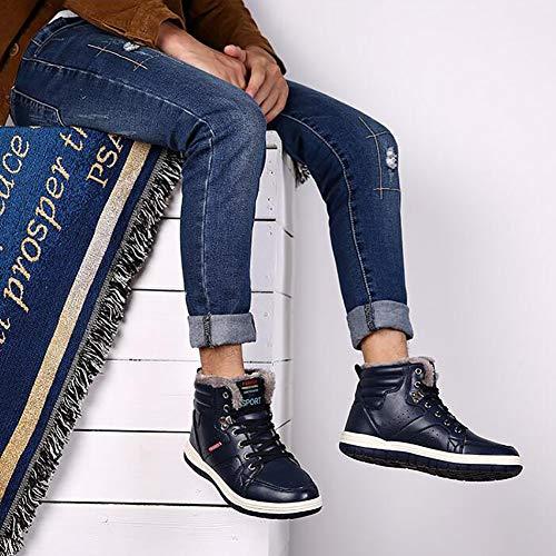 Uomo Uomo Pelle Blue Stivali Blu Marrone Stivali Stivali Neve Scuro Da Da 39 Stivaletti In Da Comfort Sci Invernale Stivaletti Nero TWpHntA8nq