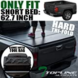 chevrolet colorado bed liner - Topline Autopart Solid Hard Tri Fold Tonneau Truck Bed Cover With Tool Bag For 15-18 Chevy Colorado ; GMC Canyon Crew Cab 5 Feet ( 60