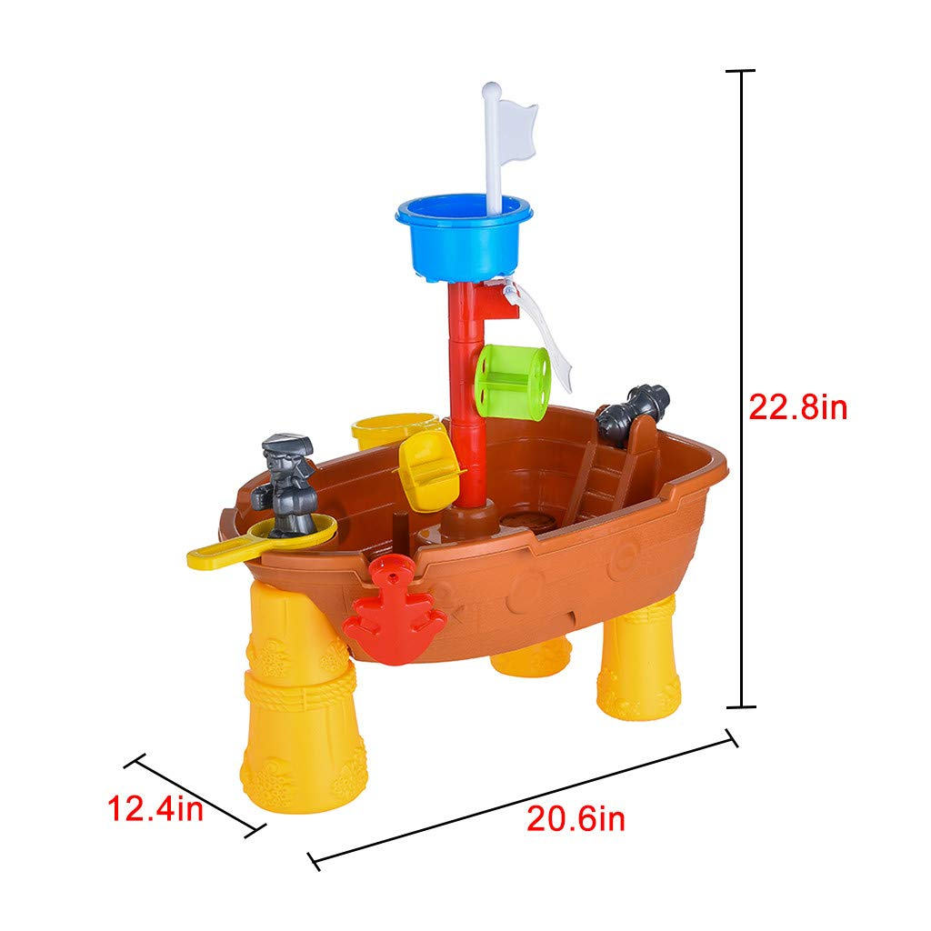 Yuege Sand and Water Play Table 2 in 1 Plastic Outdoor Table for Toddlers with Times Tables and Accessories Included 24-pc Accessory Set Included Ship from USA