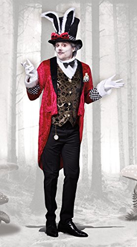 Alice In Wonderland Costumes For Men (Dreamgirl Men's White Rabbit, Multi,)