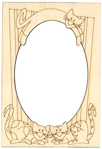 Provo Craft Home Accents Etched Elegance - Laser Overlays Frame - Cat (Six (Provo Craft Frames)