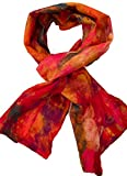 Teramasu One of a Kind Handmade Silk Merino Wool Multicolored Artist Scarf Style 4
