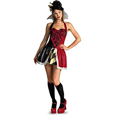 amazoncom queen of hearts womens adult sexy halloween costume clothing