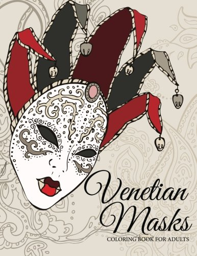 Venetian Masks Coloring Book For Adults