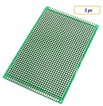 5 pc double sided protoboard prototyping pcb board 8cm x 12cm rh amazon com