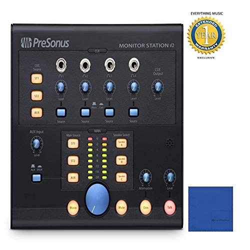 PreSonus Monitor Station V2 Desktop Studio Control Center with 1 Year Free Extended ()