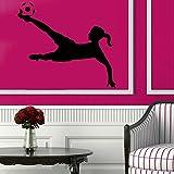 Wall Decor Vinyl Decal Sticker Girl Football Soccer Player Kg84