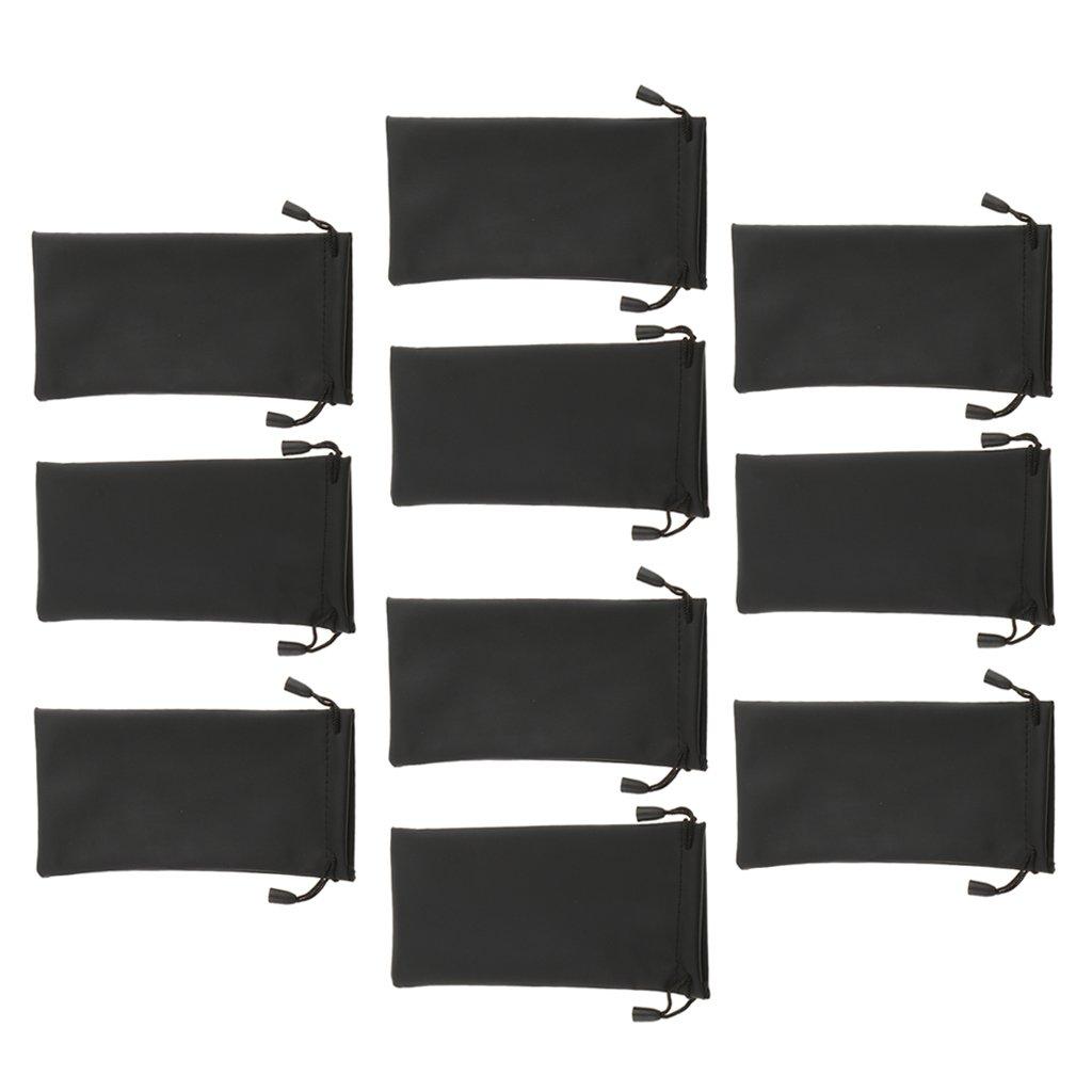 MagiDeal 10 Pezzi Sacchetti Sacche Borse Impermeabili per Occhiali da Sole Eyeglass Storage Bags Pouch, Unisex