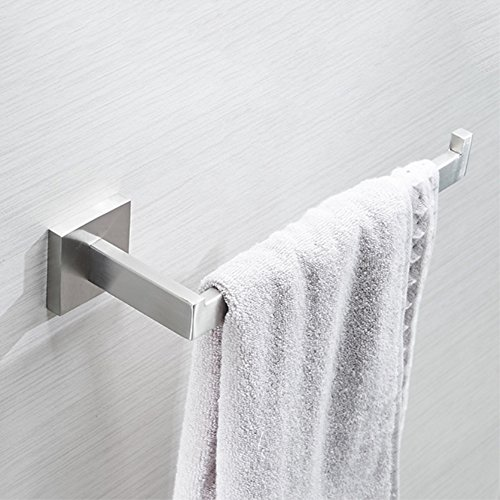 VELIMAX Stainless Steel Hand Towel Holder Modern Towel Ring Hand Towel Bar Towel Hanger Wall Mount for Bathroom Kitchen, Brushed Finish