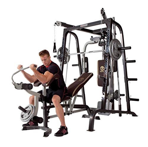 Kinelo Marcy Deluxe Diamond Elite Smith Cage Home Workout Machine Total Body Gym System