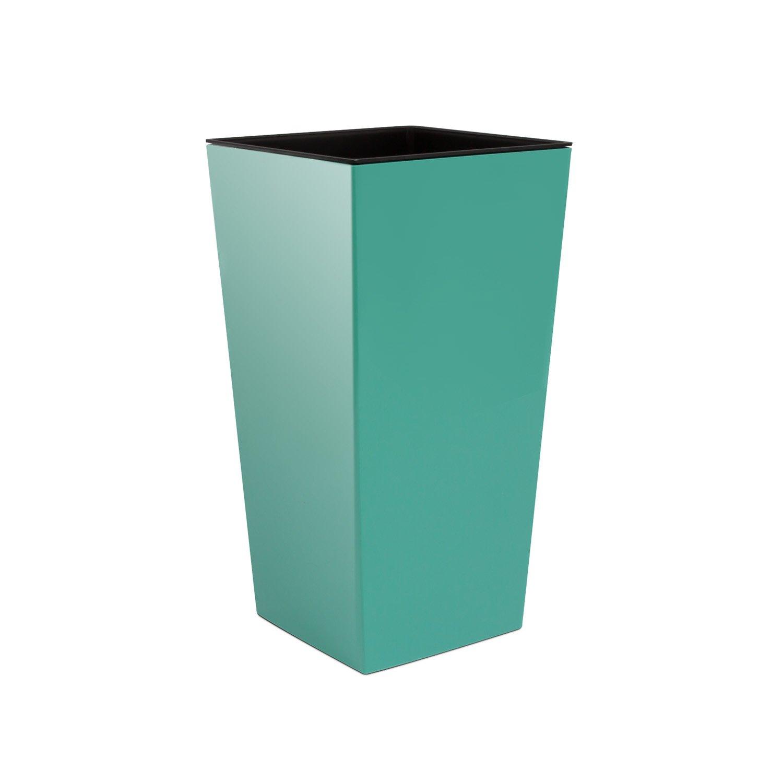 Prosperplast Pot de Fleur Cache Pot Rato Square Macet urbi Square 26, 5 x 26, 5 x 50 HCM e5 Turquoise DURS265-320U