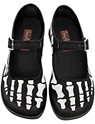 Hot Chocolate Design Chocolaticas Bella Hasta LA Muerte Womens Mary Jane Flat