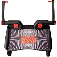 Lascal BuggyBoard Mini, Universal Ride-On Stroller Board, Fits Most Strollers Using The Patented Universal Adapter, Quick Connect and Disconnect, Holds Up to 66 lbs, Black