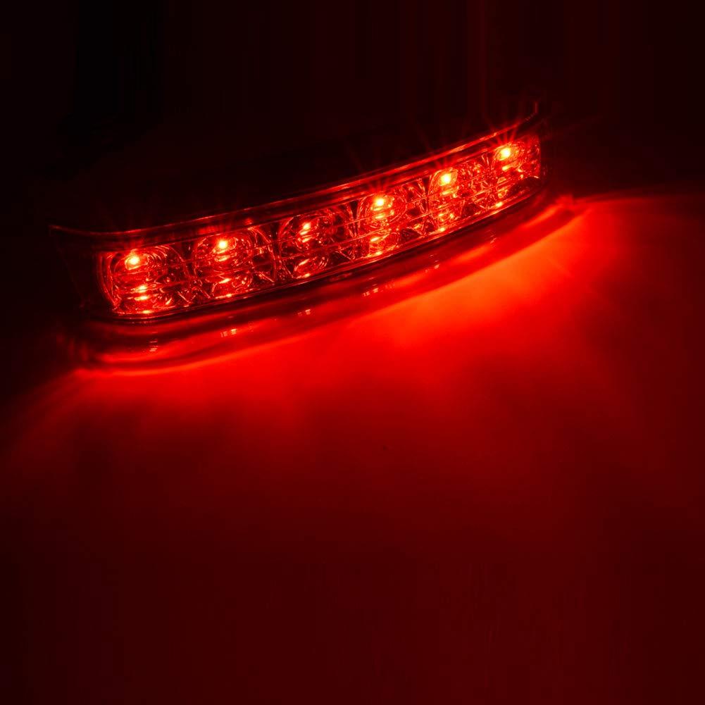 Black Red Lens Saddlebag Housing Tail Run Brake Turn Light Lamp LED Len For Harley Touring Street Road Gilde CVO Electra Glide Ultra Classic Ultra Limited CVO 2014-2017