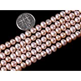 5-6mm Pink Freshwater Pearl Beads Strand 15 Inch Jewelry Making Beads