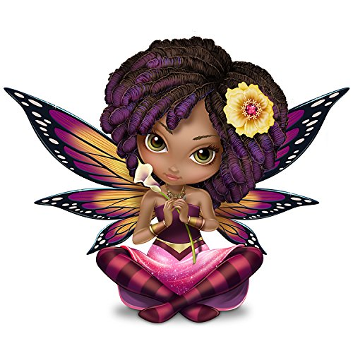 Jasmine Becket Griffith African American Fairy Figurine with Butterfly Wings by The Hamilton - Fairy Butterfly Figurine