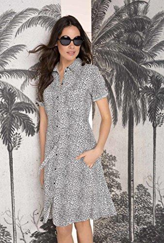 Roxanne Leopard Damen Expresso Weiß Kleid dUxa4qnt