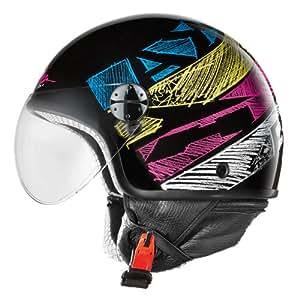 AXO Casco de Moto Subway Jet Negro/Multicolor M (57-58 cm)