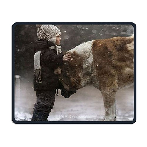 Winter Boy And Dog Smooth Nice Personality Design Mobile Gaming Mouse Pad Work Mouse Pad Office Pad
