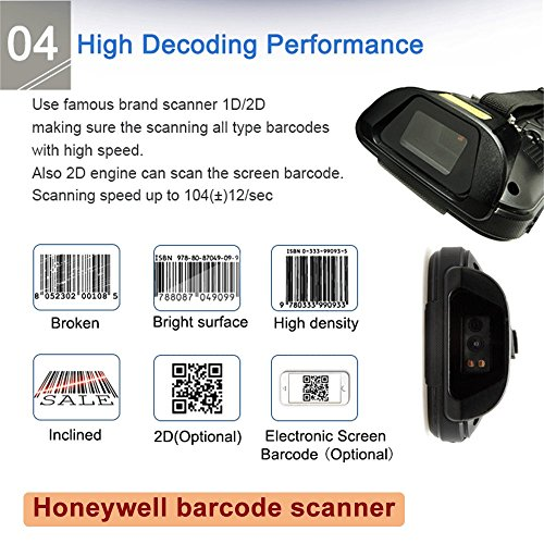 MUNBYN 3G 4G Handheld Android 7.0 POS Terminal with 1D Honeywell Barcode Scanner with Charger Cradle and Touch Screen WiFi BT GPS for Delivery Warehouse Management Shipping by MUNBYN (Image #3)