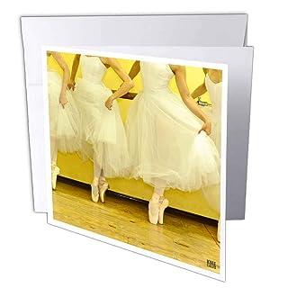 3DROSE GC 10003_ 16x 15,2cm'Ballerinas of the National Ballet indossa un abito romantico bianco' Auguri (confezione da 6)