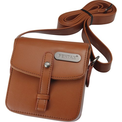 Pentax 85234 Q Vintage Leatherette Shoulder Bag (Brown) (Q10 Pentax Compact)