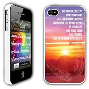 iPhone 4/4s Case - Christian Theme - Acts 1:8 - White Protective Hard Case