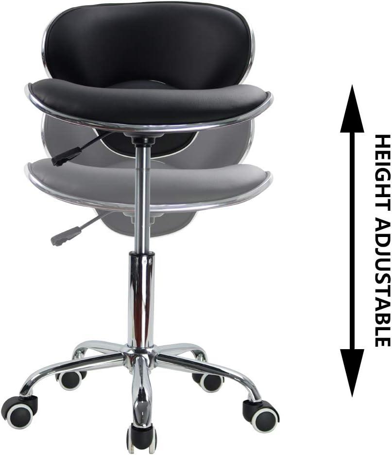 Sedia da Bar Girevole a 360 /° Sedia per Computer a Forma di Conchiglia KKTONER-Sedile e Schienale Moderni in Pelle PU