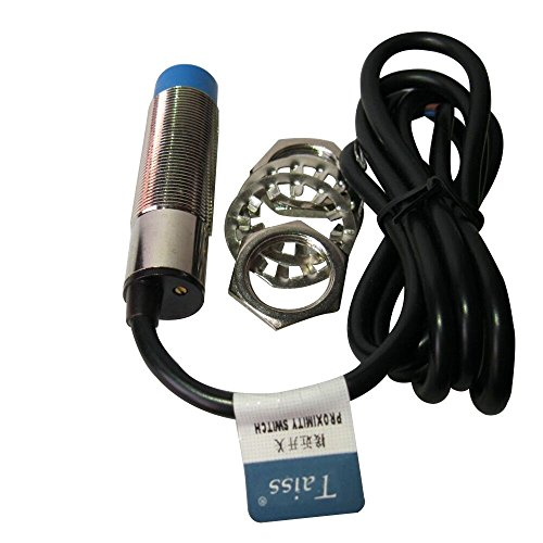Taiss 1pcs LJC18A3-H-Z/BX 1-10mm Sensor Switch Capacitance Proximity Sensor Switch NPN NO(Normally Open) DC 6-36V 300mA M18 3-Wire