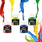 Glass Paint, Stained Glass Paint, Glass Color Paint for Wine Bottle, Light Bulbs and Ceramic