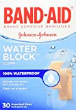 Band-Aid Brand Water Block Plus Waterproof Clear Adhesive Bandages for Minor Cuts and Scrapes, 30 ct