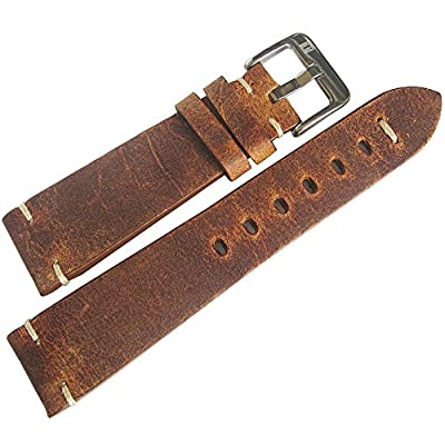 ColaReb 20mm Firenze Rust Brown Leather Watch Strap from ColaReb