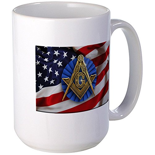 CafePress - Patriotic Freemason Mugs - Coffee Mug, Large 15 oz. White Coffee Cup (Freemason Coffee Cup compare prices)
