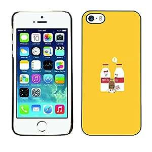 iPhone 5 / 5S - Metal de aluminio y de plástico duro Caja del teléfono - Negro - Milk & Chocolate Milk Baby - Funny