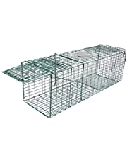 "Bloodyrippa Heavy Duty Humane Live Animal Trap, Foldable Catcher Cage, Suitable for Possum Fox Koala Rabbit Bird Cat Live Catch, Size 36.8"" x 12.2"" x 12.2"", Large"