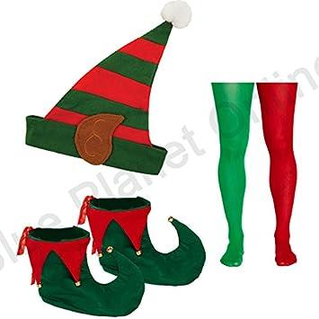 2eeeb9ae61b07 Blue Planet Fancy Dress ® Striped Elf Hat with Ears