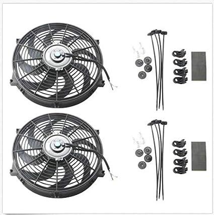 2 ventiladores universales de 14 pulgadas, delgados, para ...