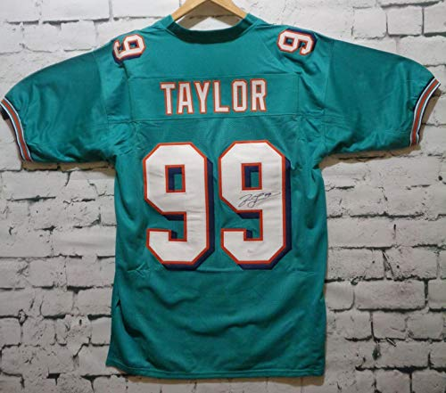 Jason Taylor Signed Autographed Miami Dolphins Football Jersey - JSA COA (Miami Dolphins Football Jersey)