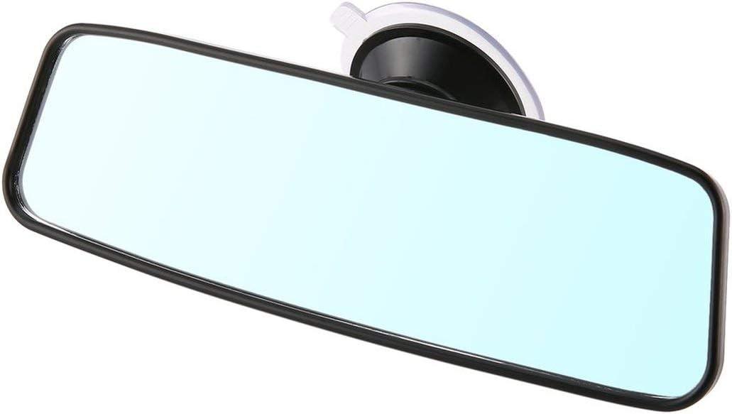 Greatangle Espejo retrovisor universal para autom/óvil Espejo retrovisor gran angular Espejo retrovisor interior autom/ático con ventosa de PVC CZC-100 negro
