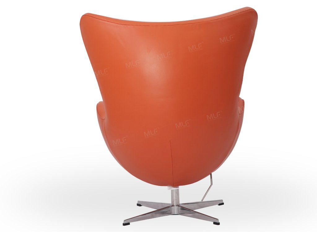 Amazon.com MLF Arne Jacobsen Egg Chair in Orange Italian Leather. Famous Modern Design. (5 Colors) Kitchen u0026 Dining  sc 1 st  Amazon.com : egg chair pink - Cheerinfomania.Com