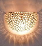 The Brighter Side Golden Crystal Wall Light For Bedroom Living Room Home Decor