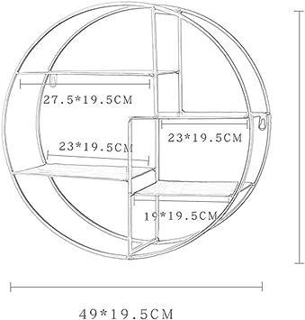 ZYDJ Mensola A Muro, Mensola Multifunzionale Nordica (49