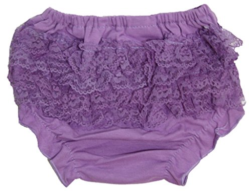 Nylon Bloomers (Leaf Sison Dress Plain Colored Lace Cotton Bloomer Panties for Baby Girl 6-24m (Purple))