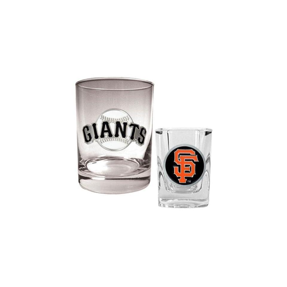 San Francisco Giants MLB Rocks Glass & Square Shot Glass Set   Primary
