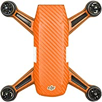 Shaluoman PVC Carbon Fiber Orange Graphic Decals Stickers Waterproof Skin for Spark