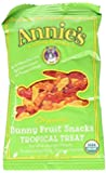 Annie's Organic Bunny Fruit Snacks, Tropical Treat, 24 Pouches, 0.8 oz Each